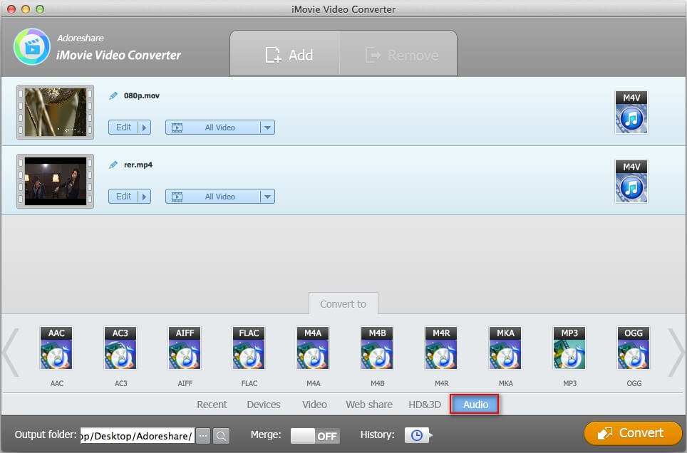 how to export imovie to mp3