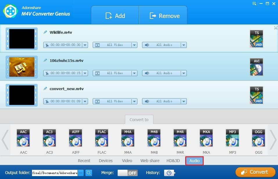 Easy Way to Convert iTunes M4P Audios to MP3 Audios - Adoreshare