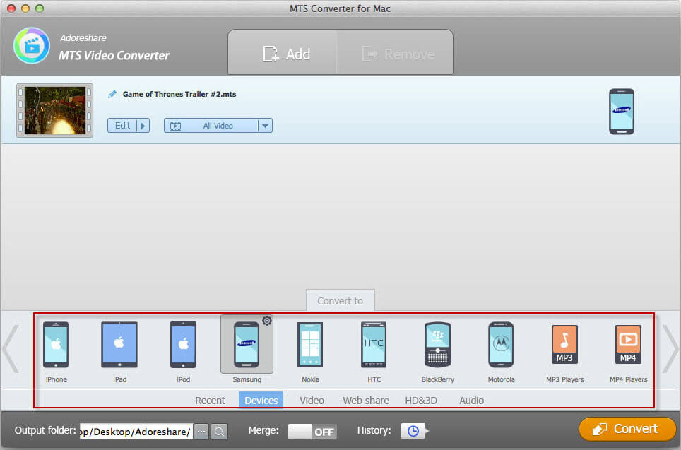 how to use mts converter