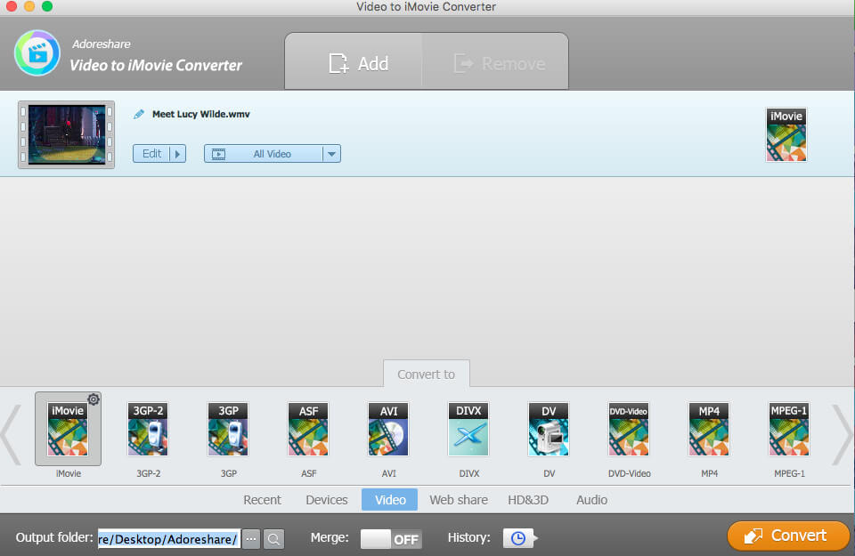convert wmv to imovie