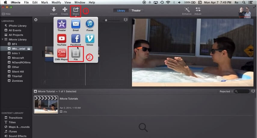 how to burn a dvd from imovie