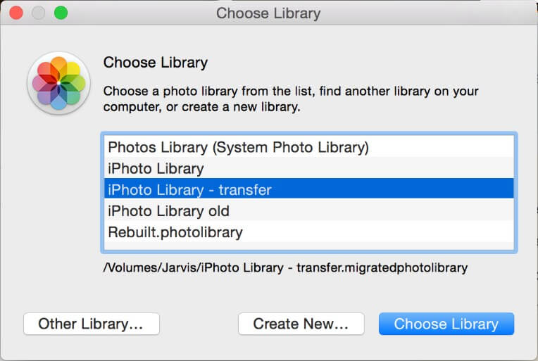 import iphoto library to photos