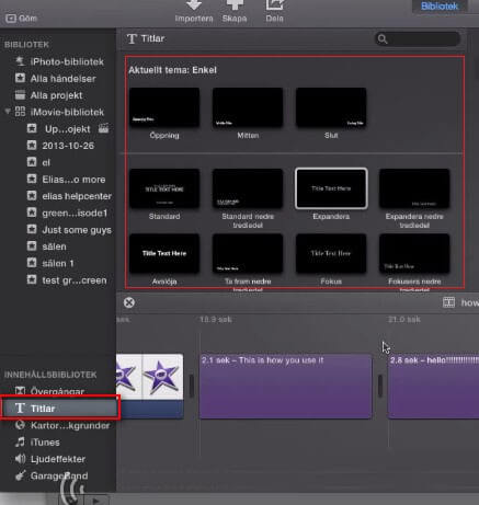 how to put subtitles on imovie 9