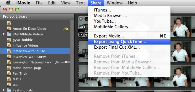 export imovie video in hd