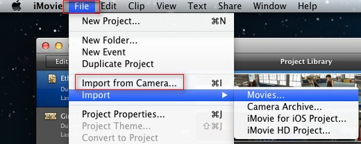 importing camcorder video clips to imovie