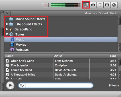 how to add background music in imovie