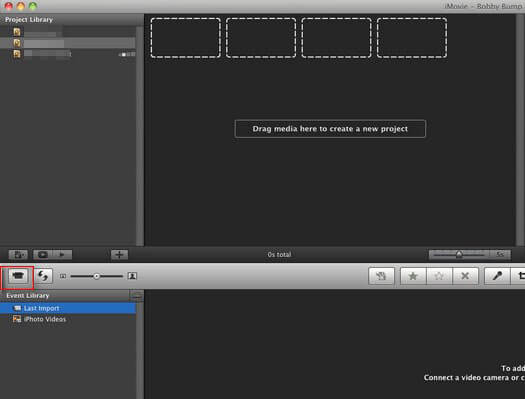import iphone video clips to imovie