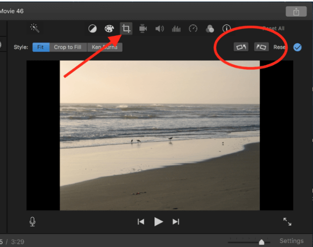Top 3 ways to edit vertical iphone video and remain original aspect rotate video angle on imovie ccuart Gallery