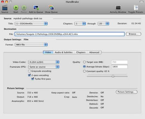 handbrake dvd to mp4