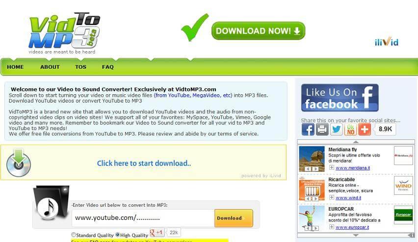 Vidtomp3 converter free