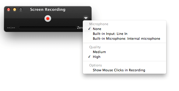 change screen recording settings on quicktime