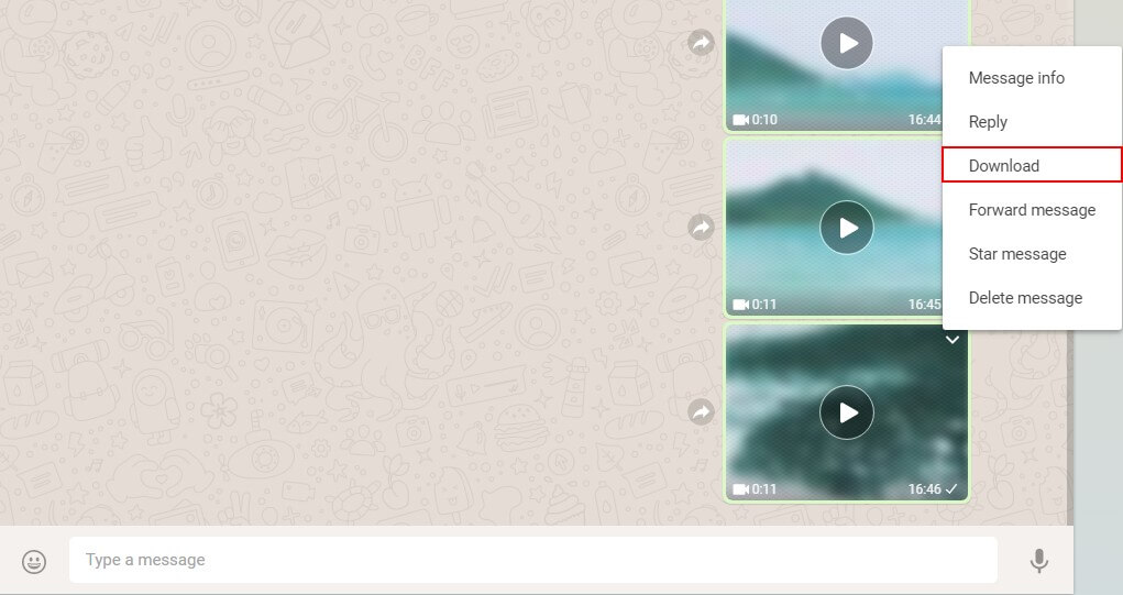 download and save whatsapp videos on computer