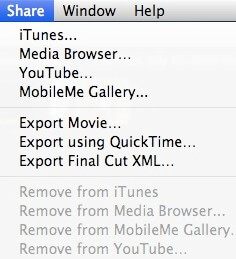export videos from imovie