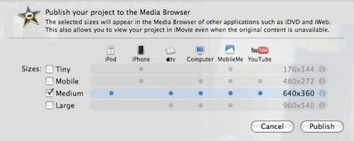 upload videos from imovie to youtube