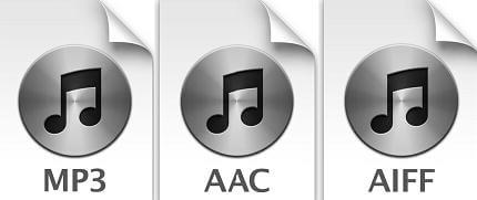 itunes supported audio format