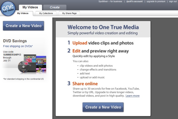 One true media video maker free download