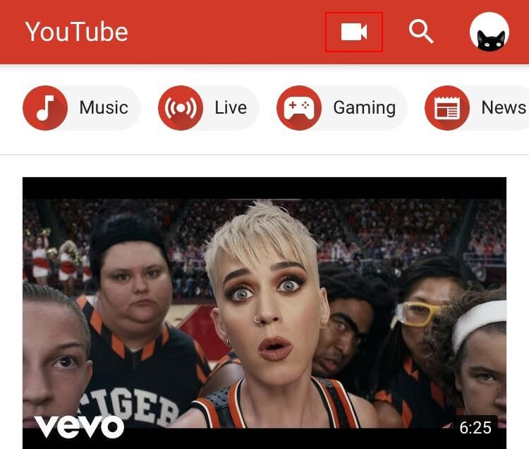 choose to upload a video to youtube interface