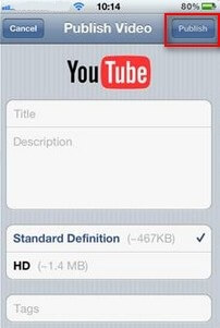 how to post videos to youtube from iphone